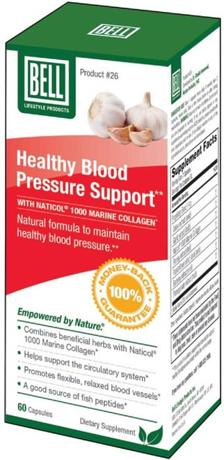 Bell Lifestyle Products Healthy Blood Pressure Support  60 caps