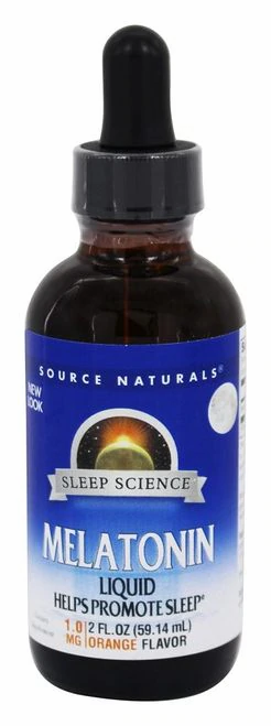 Source Naturals Melatonin Liquid 1.0 Orange  59.14 ml