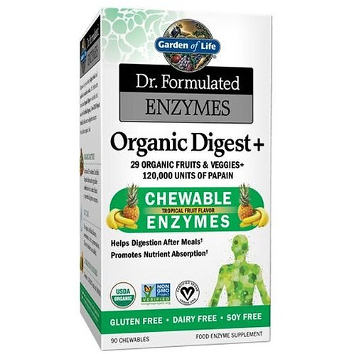 Garden of Life Dr. Formulated Enzymes Organic Digest + 90 chews