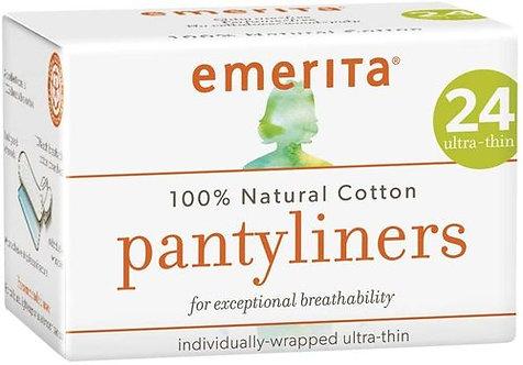 emerita Natural Cotton Pantyliners Ultra-thin  24 ct