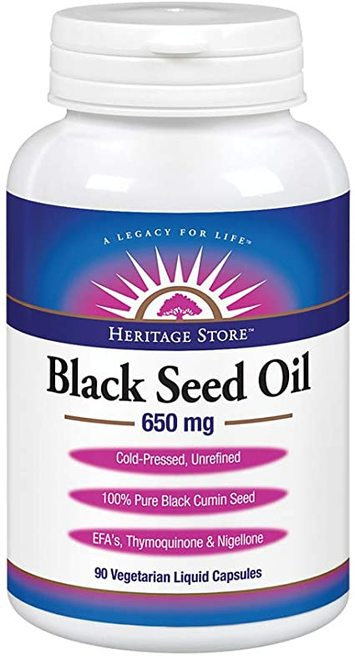 Heritage Store Black Seed Oil 650 mg  90 caps
