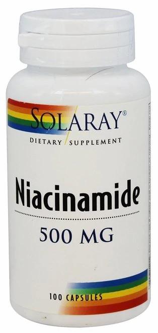 Solaray Niacinamide 500 mg 100 caps