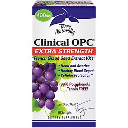 Terry Naturally Clinical OPC Extra Strength 400mg 60 softgels