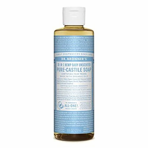 Dr. Bronner's Pure-Castile Soap Baby  Unscented  237 ml