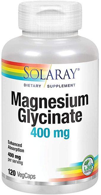 Solaray Magnesium Glycinate 400 mg  120 caps