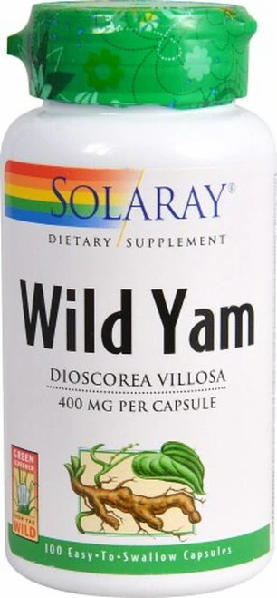 Solaray Wild Yam 400 mg  100 caps