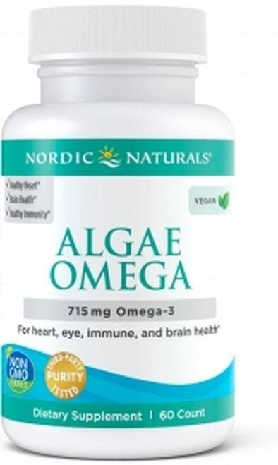Nordic Naturals Algae Omega Plant-Based EPA & DHA 715 mg Omega-3 60 ct.