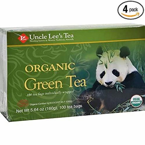 Uncle Lee's Tea Organic Green Tea  100 bags
