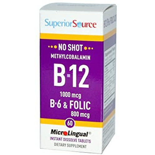 Superior Source B-12 1,000 mcg  60 tabs