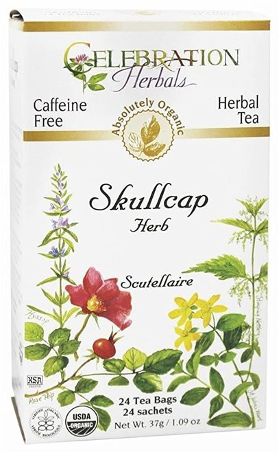 Celebration Organic Herbal Tea Skullcap Herb  24 bags