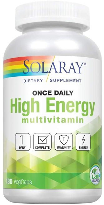 Solaray High Energy Multivitamin Once Daily  180 caps