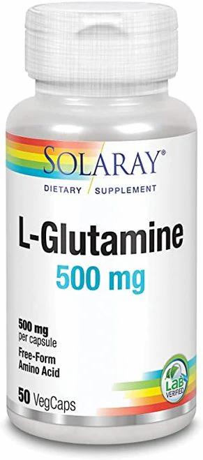 Solaray L-Glutamine 500 mg  50 caps