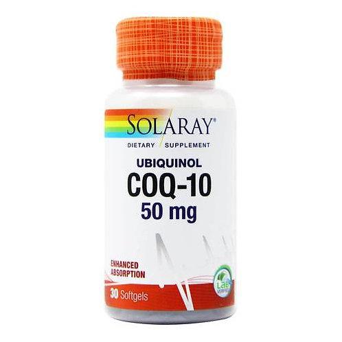 Solaray COQ-10 Ubiquinol 50 mg  30 softgels