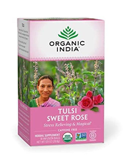 Organic India Tea Tulsi Sweet Rose  18 bags