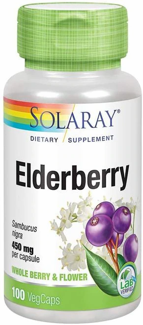 Solaray Elderberry 450 mg  100 caps
