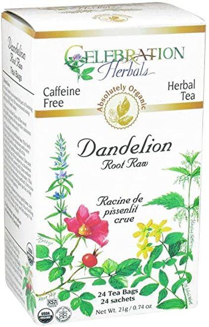 Celebration Organic Herbal Tea Dandelion Root Raw  24 bags