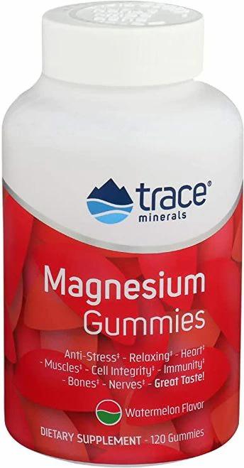 Trace Minerals Magnesium Gummies Watermelon  120 gummies