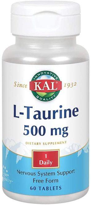 KAL L-Taurine 500 mg 1 Daily  60 tabs