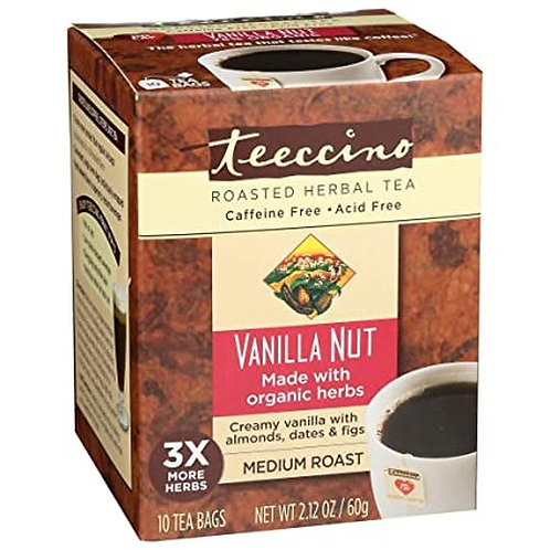 Teeccino Roasted Herbal Tea Vanilla Nut  10 bags