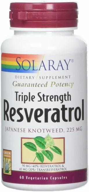 Solaray Resveratrol Triple Strength 225 mg  60 caps