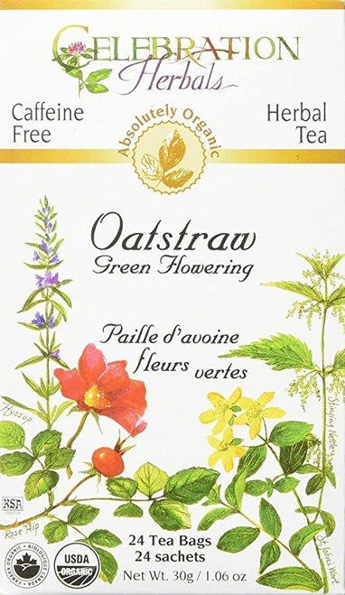 Celebration Organic Herbal Tea Oatstraw Green Flowering  24 bags