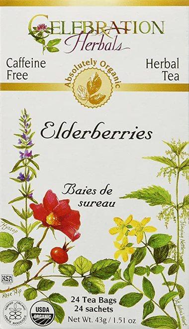 Celebration Organic Herbal Tea Elderberries  24 bags