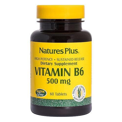 NaturesPlus Vitamin B6 500 mg  60 tabs