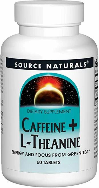 Source Naturals Caffeine + L-Theanine  60 tabs