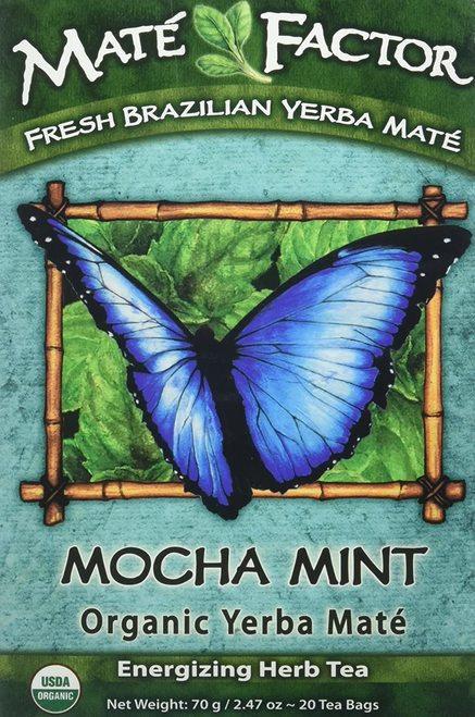 Mate Factor Organic Yerba Mate Mocha Mint  20 bags