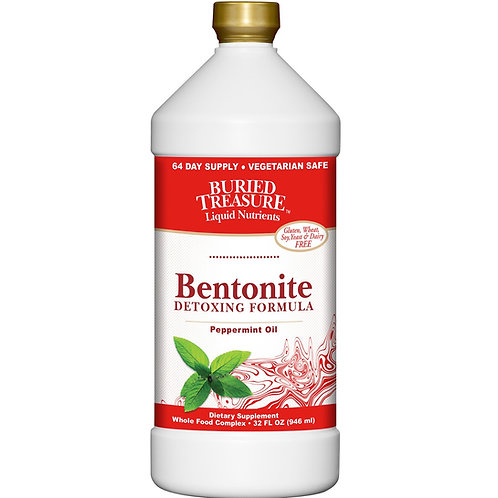 Buried Treasure Bentonite Detoxing Formula Peppermint Oil   946 ml