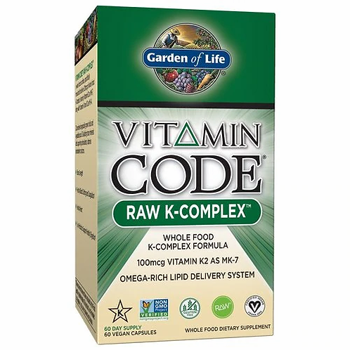 Garden of Life Vitamin Code RAW K-Complex 100 mcg 60 caps