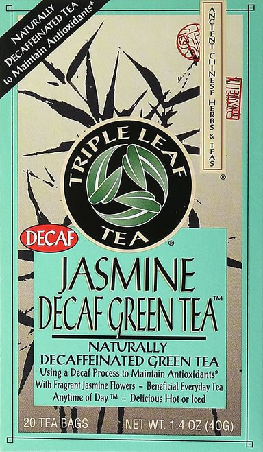 Triple Leaf Tea Jasmine Decaf Green Tea  20 bagsTriple Leaf Tea Jasmine Decaf Gr