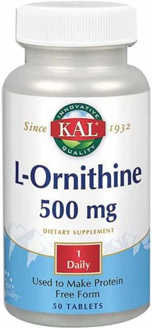 KAL L-Ornithine 500 mg 1 Daily  50 tabs