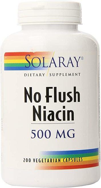 Solaray No Flush Niacin 500 mg 100 caps