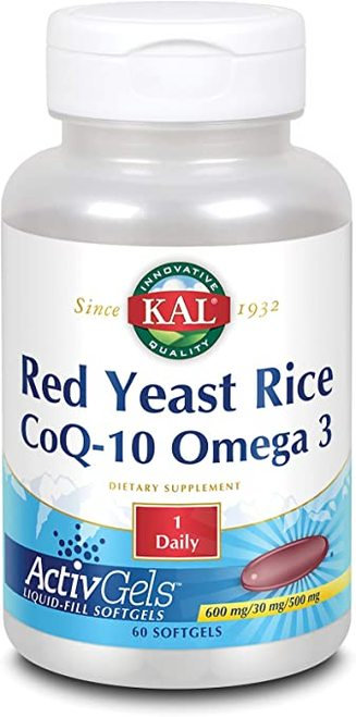KAL Red Yeast Rice CoQ-10 Omega 3 1 Daily  60 softgels
