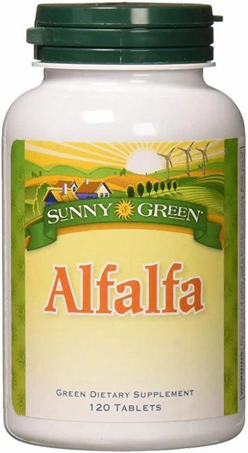 Sunny Green Alfalfa 500 mg NON-GMO  120 tabs
