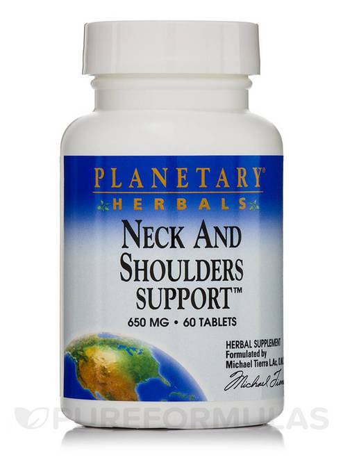 Planetary Herbals Neck and Shoulders Support 650 mg  60 tabs