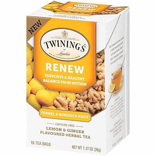 Twining's Tea Renew Fennel & Burdock Root Lemon & Ginger  18 bags