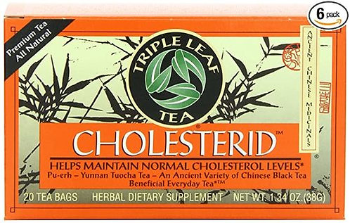 Triple Leaf Tea Cholesterid-Pu-Erh Tea  20 bags