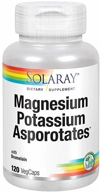 Solaray Magnesium Potassium Asporotates  120 caps