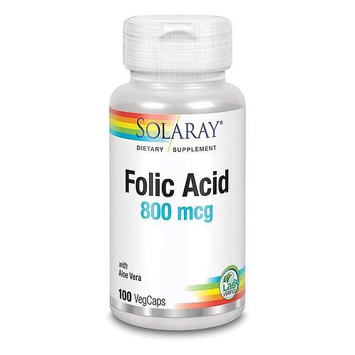 Solaray Folic Acid 800 mcg 100 caps