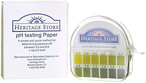 Heritage Store pH Testing Paper  1 roll
