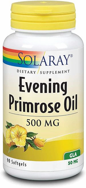 Solaray Evening Primrose Oil 500 mg  90 softgels