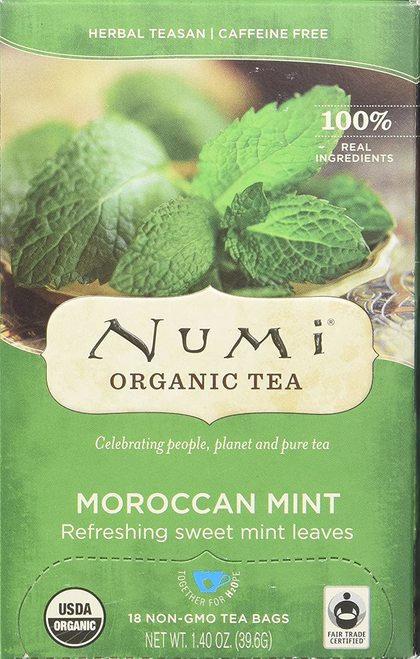 Numi Organic Tea Moroccan Mint  18 bags