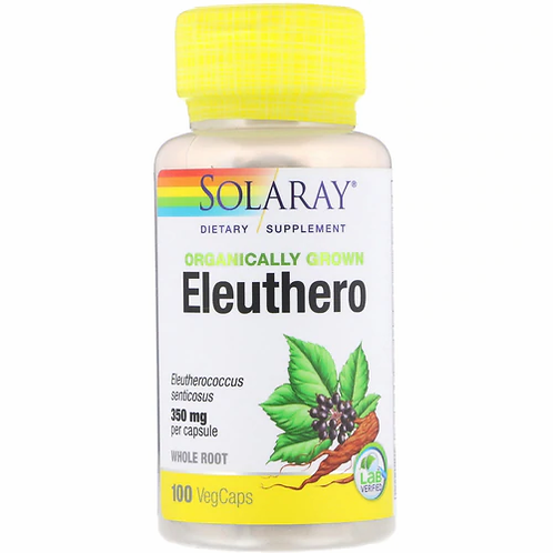 Solaray Eleuthero Organic 350 mg  100 caps