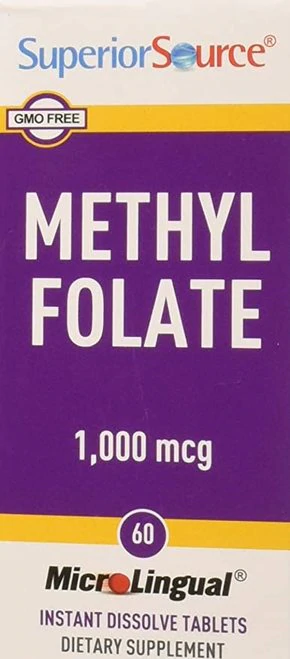 Superior Source Methyl Folate  1,000 mcg  60 tabs