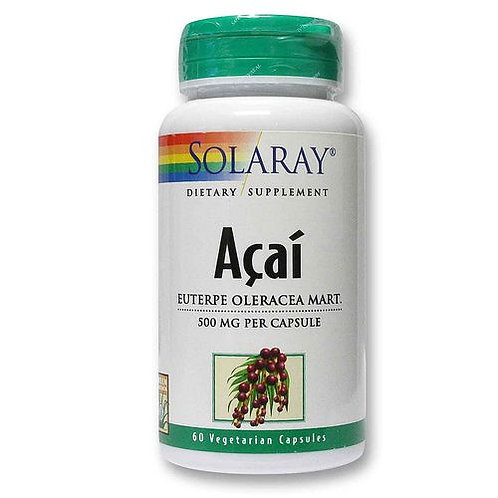 Solaray Acai Whole Berry 500 mg  60 caps