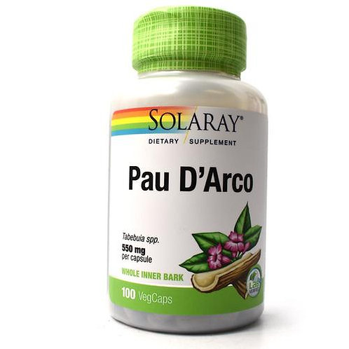 Solaray Pau D-Arco 550 mg  100 caps