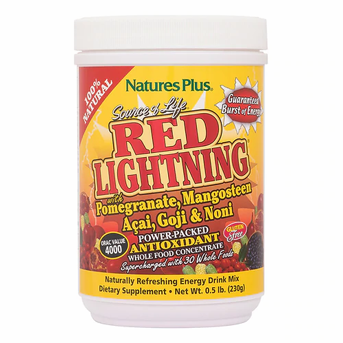 NaturesPlus Red Lightning Antioxidant Drink Mix  230 g