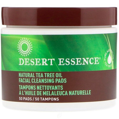 Desert Essence Tea Tree Oil Cleansing Pads  50 pads